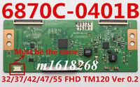 6870C-0401B T-con Board LG 32/37/42/47/55 FHD TM120 Ver 0.2 Vizio LG 55LS4600-UA