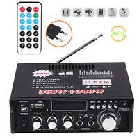 300Wx2 Bluetooth Estéreo Amplificador de audio HiFi Música SD USB FM 12V / 220V