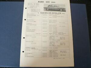 AT144 AUDI 100 1968 PLUS S EN LS   INFO TECHNICAL CAR AUTO
