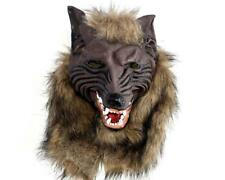 Latex Animal Werewolf Mask With Hair Mask Cosplay Halloween Costume Theater Prop