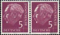 BRD (BR.Deutschland) 179x waagerechtes Paar postfrisch 1954 Heuss