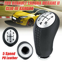 5 Speed Gear Knob Shift Fit For RENAULT Laguna Megane 2 Clio 3 Kangoo PU