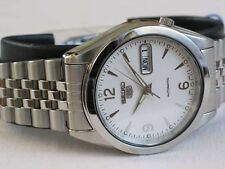 Seiko 5 Automatic Mens Watch See Through Back Jubilee chain SNK131K UK Seller