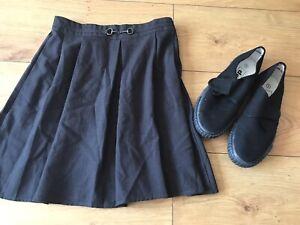 Girls Grey School Skirt & Black PE / Gym Shoes Size UK 3