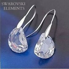 boucles d'oreilles cristal swarovski plaqué or facettes transparent arrondies