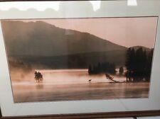 Huge Thomas mangelsen Morning Light Yellowstone River Framed Sold Out Rare Size