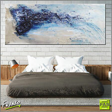 Original Abstract Art Painting Textured Canvas Blue 75cmx100cm Franko Australia