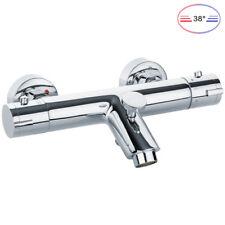 Thermostat Armatur Mischbatterie für Badewanne Bad Chrom Sanlingo