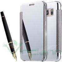 Custodia Clear Cover per Samsung Galaxy S7 G930F case mirror booklet specchio