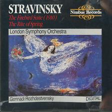 Stravinsky Firebird Suite, Rite of Spring -  Rozhdestvensky, LSO; Nimbus CD 1987