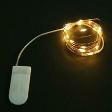 LED Battery-powered Micro Wire Copper Fairy String Party Decor Lights E2B6