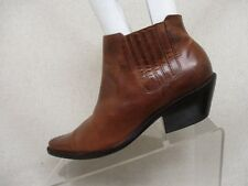Matisse Brown Leather Elastic Ankle Fashion Boots Bootie Size 6 M