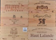 1 LOT N° 003 ESTAMPES façade caisse en bois pour cave à vin WWW.I-FRANCEWINE.FR