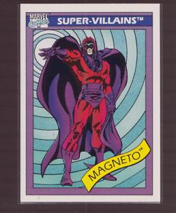 1990 Marvel Comics Impel Super Villains Card Magneto 63
