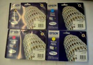 Epson Genuine 79XL Black Cyan Magenta Yellow T7901 T7902 T7903 T7904 T7905 Set 4