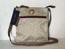 NEW! TOMMY HILFIGER KHAKI BROWN NORTH SOUTH CROSSBODY SLING BAG PURSE $69 SALE