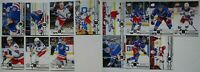 2019-20 Upper Deck UD New York Rangers Series 1 & 2 Team Set 14 Hockey Cards