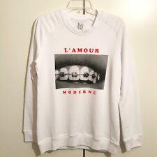 Zoe Karssen White/Black/Red 'L'Amour Moderne' Long Sleeve Sweatshirt RRP: £155