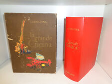 LA GRANDE CUCINA-LUIGI CARNACINA-PRIMA EDIZIONE 1960-GARZANTI CON COFANETTO--S18