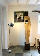 More details for large 20th century abstract carved oak floor sculpture modernist moore hepworth
