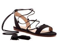 ALDO Womens 'Ibadoniel' Black Lace Up Tassels Sandals Sz 7.5 - 231269