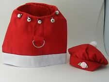 Dog apparel-Set hot RED Pet dog party dress cloth & hat XS own design -%