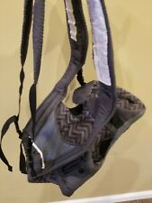 Evenflo Breathable Soft Baby Infant Front Carrier, Grey Chevron, Adjustable