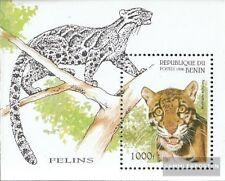 Benín Bloque 19 (compl.edición) nuevo con goma original 1996 Wildcats