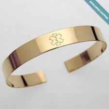Medical Alert Bracelet - Hidden Message Custom Engraved Medical ID Cuff for her
