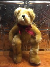 """2005 Burton & Burton Plush Teddy Bear Golden Brown 12"""" stuffed animal 12in."""