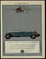 Cadillac Motors 1930 Color Saturday Evening Post Advertisement