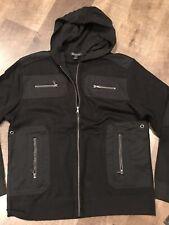 INC - Zip Up Hoodie - Shirt Jacket - XXL - Black