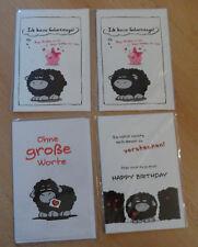 4 X lustige Klappkarte Karte Glückwunschkarte Olaf das Grummelschaf Schaf