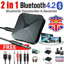More details for 2 in1 wireless bluetooth audio transmitter receiver hifi music/adapter aux uk