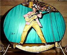 Elvis Presley The King In Performance Plate Collection Tampa 1955 Plate