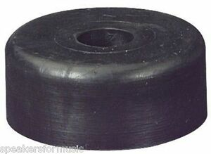 """Pro SOLID RUBBER FEET-SET (4) 1.5"""" diam by 5/8 inch tall Penn-Elcom with Screws"""