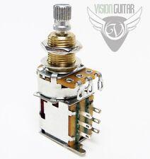 500K DPDT Push-Push Audio Taper Potentiometer Mini Pot - Custom Wiring Projects