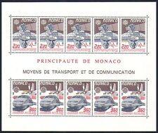 Monaco 1988 Europa/TGV Mail Train/Rail/Plane/Space/Transport 10v sht (n32866)