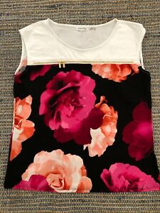 Size 14 To 16 women's Calvin Klein Floral Dress Top Lose Fit NWOT RRP $149..