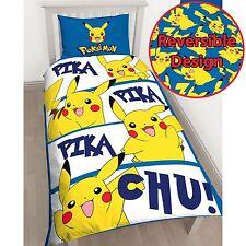 pokemon pikachu Set Housse de couette simple Chambre à coucher pour enfants
