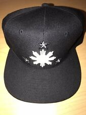 Filipino Black White Snapback Hat Baseball Cap