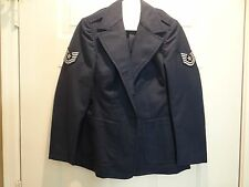 USAF Air Force Blue Womens Female Poly/Wool Dress Service Coat Jacket Size 10S