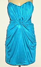 COOPER ST StraplessTurquoiseStretchSatinPartyMini Size10 EUC