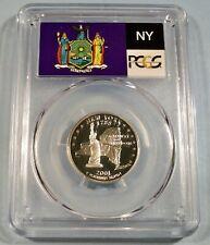 2001-S 25c SILVER PCGS PR70DCAM NEW YORK QUARTER PROOF DEEP CAMEO PR 70 DC