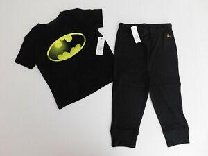 NWT Gap Toddler Boy 2 Pc Set Batman T-Shirt/Black Joggers 2 Yrs/2T 3Yrs/3T New
