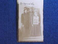Fountain MI/Man with 2 Women/He Holds Police Gazette Magazine in Hand/RPPC/1912