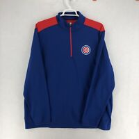 Chicago Cubs MLB Mens Blue 1/4 Zip Pullover 3X XXXL