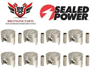 Chevy Chevrolet 396 Bbc Big Block Chevy Sealed Power Pistons (8) 1965 - 1970