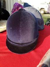"""Gatehouse Riding Showing Helmet Hickstead Blue Velvet 7 5/8"""" 62 cm New w/case"""