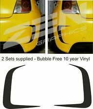 Fiat 500 595  Abarth Mk1 2 3 rear bumper vinyl surround Decals Stickers
